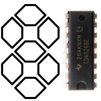 7-сегментный драйвер CD4026BE
