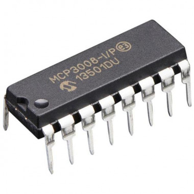 Аналого-цифровой преобразователь MCP3008