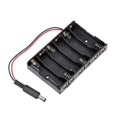Контейнер для аккумуляторов АА 6 батареек с выходом на 2.1