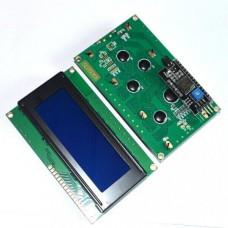 LCD дисплей 2004 (4 ряда 20 колонок/Синий) + I2C