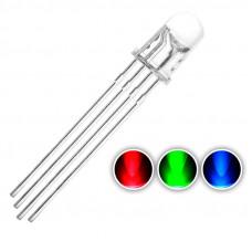 RGB светодиод 5мм прозрачный