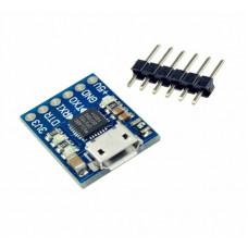 TTL UART программатор MicroUSB