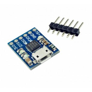 TTL UART программатор MicroUSB CP2102