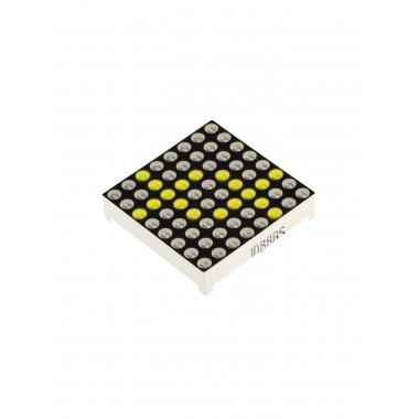 Матричный LED модуль 8x8 (Желтый)
