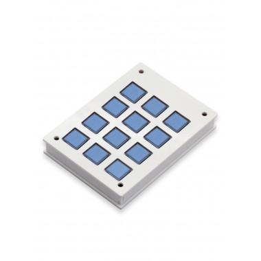 Корпус для клавишной клавиатуры 3х4 (Белый)