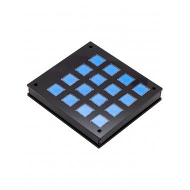 Корпус для клавишной клавиатуры 4х4 (Черный)
