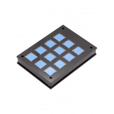 Корпус для клавишной клавиатуры 3х4 (Черный)