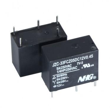Реле электромагнитное JZC-33F-C-Z-5-DC12V-0.45 FORWARD
