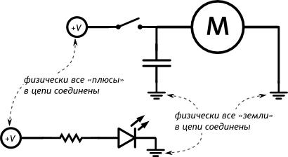 Принципиальная схема с отдельными контурами