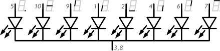 Семисегментный индикатор схема